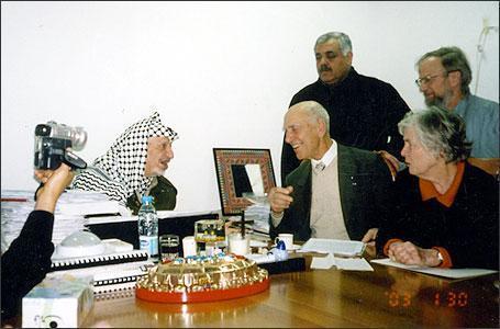 Stéphane Hessel et Yasser Arafat