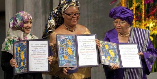 Prix Nobel de la paix 2011