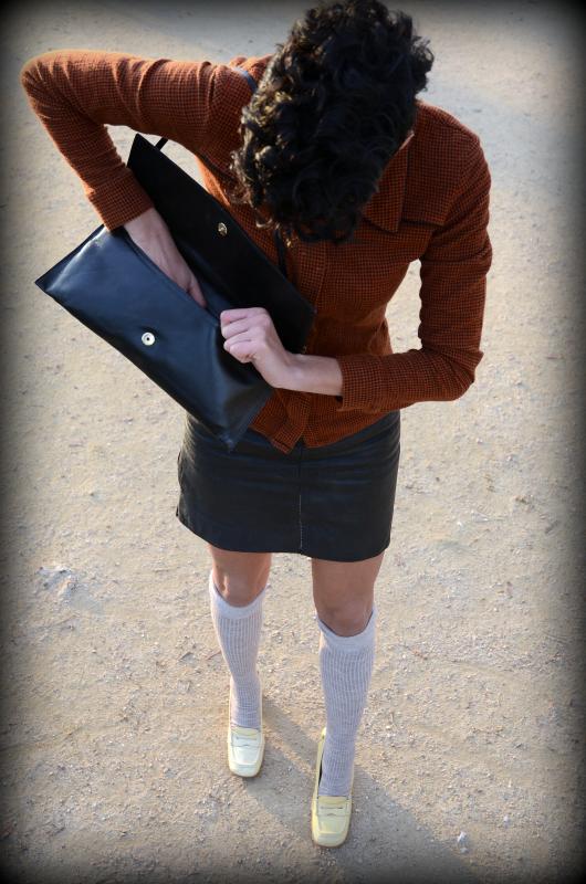 chemise Suzie Winkle, sac vintage