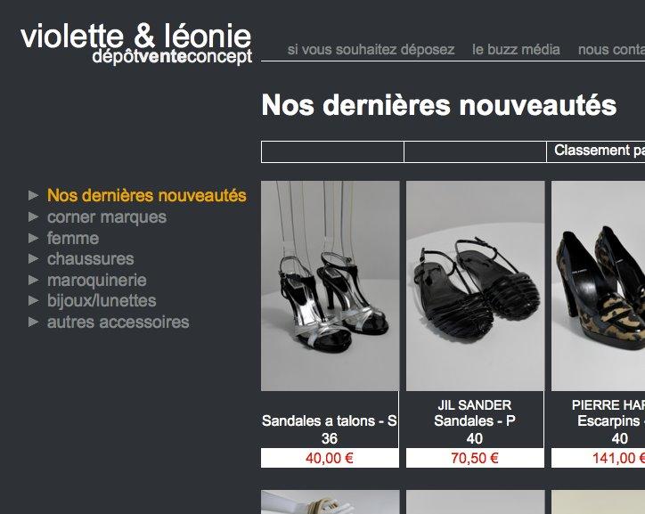 Violette et Léonie e-shop