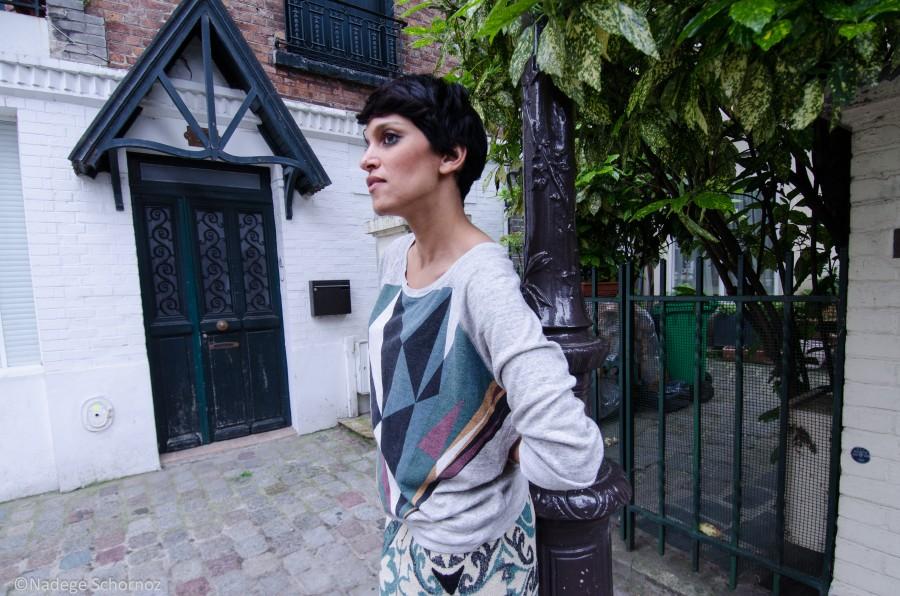 Maison Olga sweat imrpimé Nico shirt
