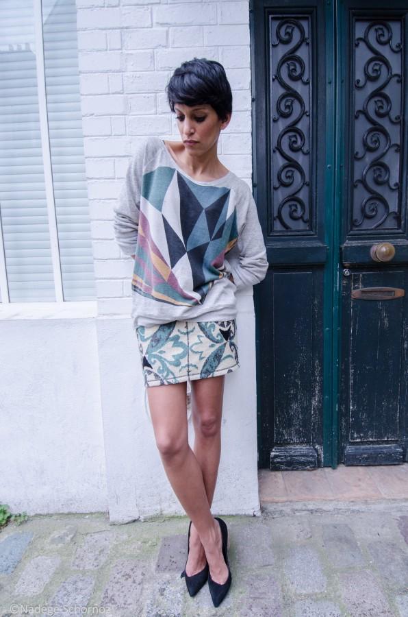 Maison Olga sweat imprimé Nico shirt