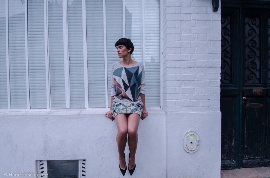 Maison Olga sweat imprimé Nico-shirt