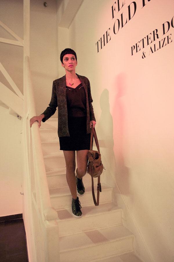blog mode éthique eco-responsable - tenue Valentine Gauthier Veja Maison Olga Sac Bleu de Chauffe