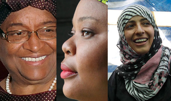 3 femmes prix Nobel de la paix 2011