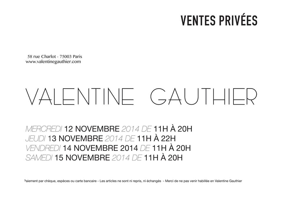 valentine gauthier vente privée blog mode wa off