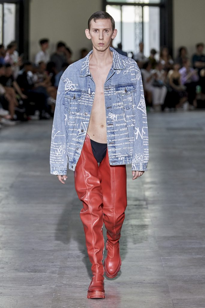 andrea crews paris fashion week men SS20 upcycling sustainable fashion mode eco responsable mode ethique